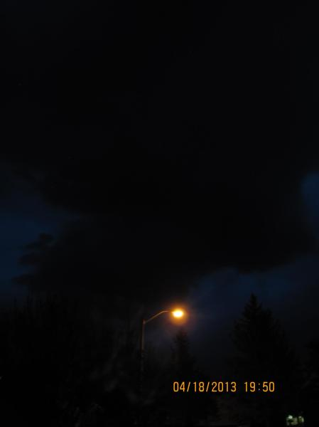 The Darkest Storm Cloud I've Ever Seen
